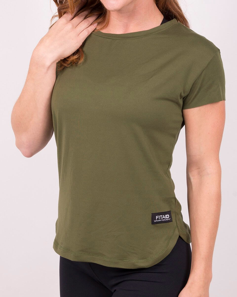 FITAID OLIVE T-SHIRT
