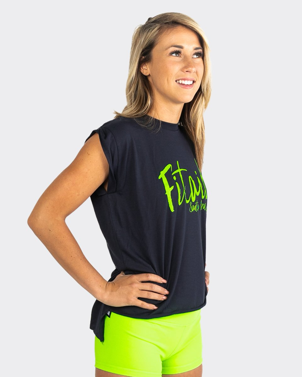 FITAID BRUSHED SCRIPT TANK TOP