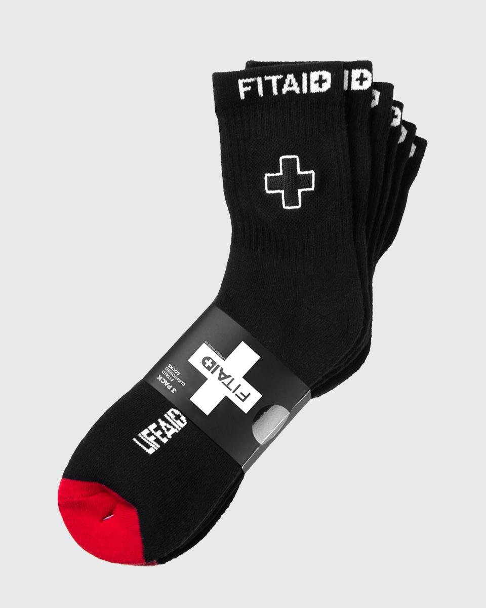 FITAID CREW SOCKS 3-PACK