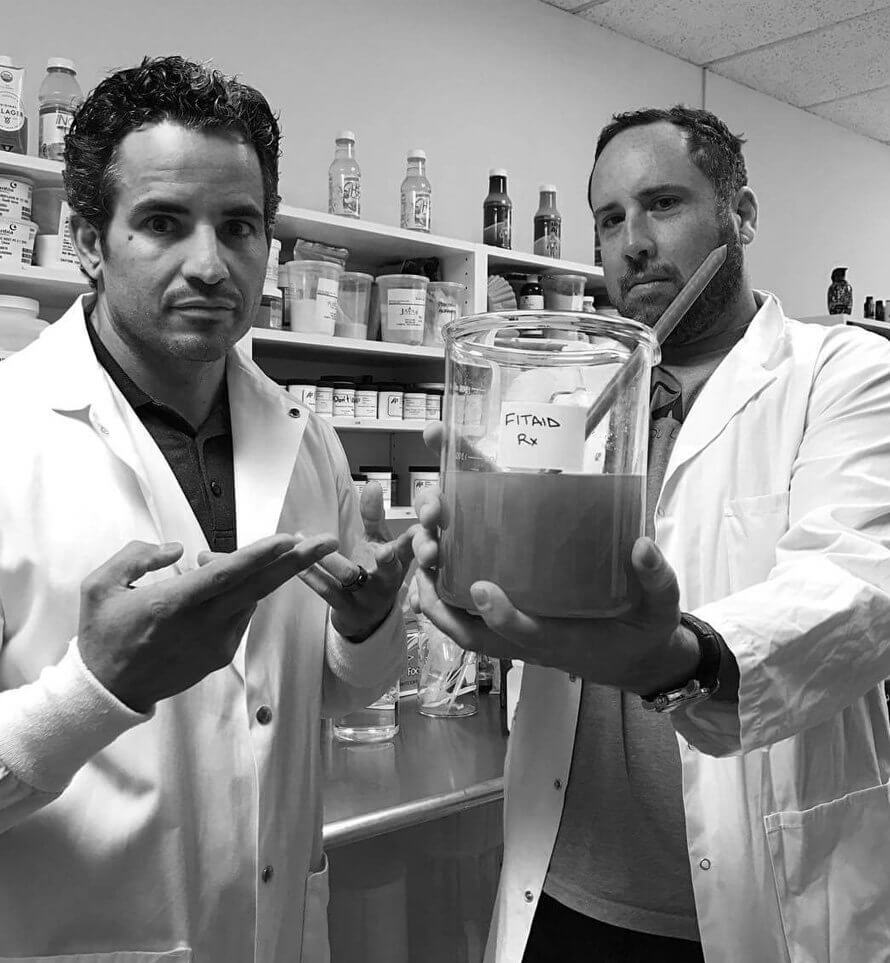 LIFEAID co-founders Aaron Hinde and Orion Melehan
