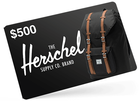 $500 Gift Card to Herschel Supply Company